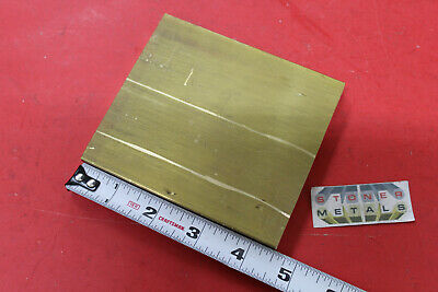 "1/2"" x 4"" C360 BRASS FLAT BAR 4-1/2"" long Solid Plate Mill Stock H02 .50""x 4"""