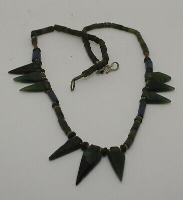 Ancient Carved  Bead Necklace - 081
