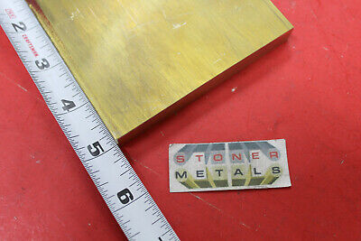"1/2"" x 4"" C360 BRASS FLAT BAR 5"" long Solid Plate Mill Stock H02 .50""x 4"""