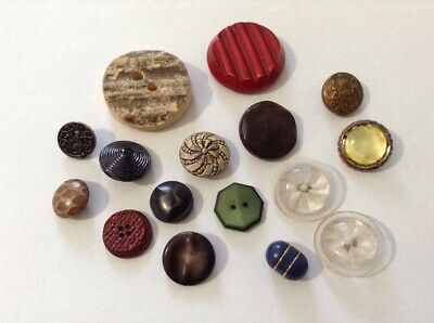 Assorted Job Lot Of Old/antique Buttons. Metal, Tin, Celluloid