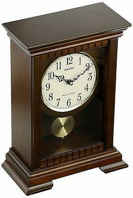 Seiko QXQ029BLH Mantel Chiming Pendulum Clock