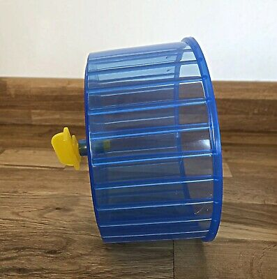 Large Hamster Exercise Spinning Wheel 14cm Fits Securely to Cage Wires Blue