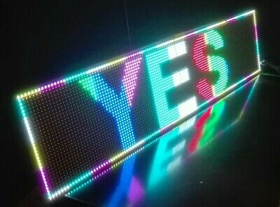 Scrolling Full Colour Led Open Shop Sign Usb Neon Hang Display Window