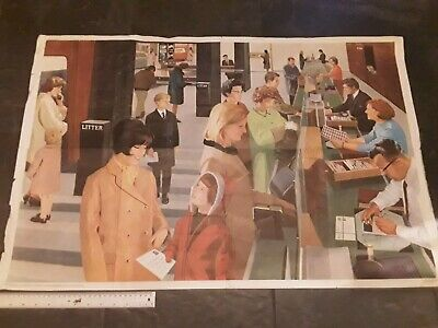 Vintage School Large Educational Poster The Post Office  (Double Sided)Evans Bro