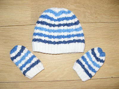 Baby Boys TU Hat and Mittens (6-12 months)