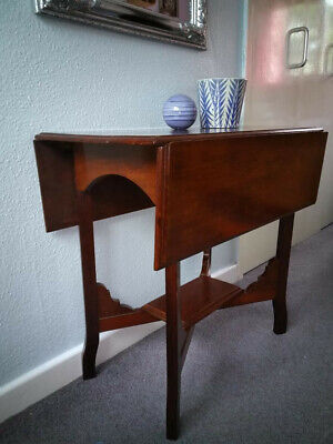 Antique Mahogany Drop Leaf - Hall Gate Leg Side Table