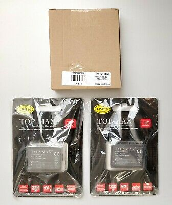 Top-Max 2X Lp-E10 Li-Ion Rechargeable Batteries + Charger For Canon Lpe10 Eos