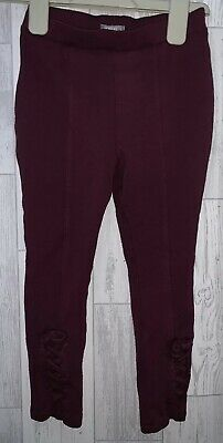 Girls Age 5-6 Years - Next Purple Thick Leggings / Jeggings