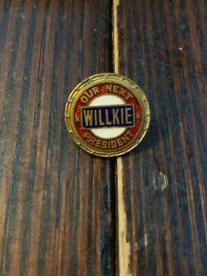 Wendell Willkie 1940 Political Campaign Lapel Pin SB NHM