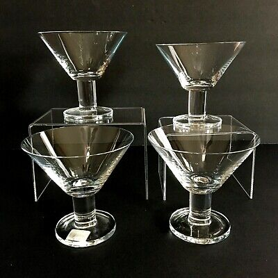 Crate and Barrel Discontinued 'Viva' Clear Martini Glasses Set of 4