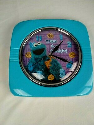 Time For Cookies Cookie Monster Retro Style Metal with Domed Glass Face Clock
