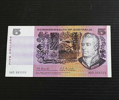 1967 $5 aUNC Coombs Randall Paper Note Banknote Australian Australia R202 Old