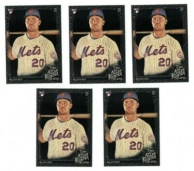 (5) 2019 ALLEN & GINTER X PETE ALONSO Lot of 5 Cards NEW YORK METS RC #182