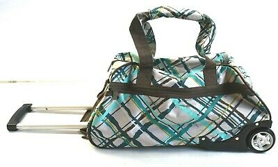 Thirty-One Celebrate Uptown Rolling Overnight Travel Bag Suitcase Carry-On