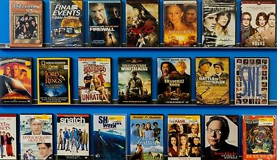 FREE SHIPPING! Lots Used ASSORTED Liquidation Movies 4,500-Bulk DVDs Wholesale