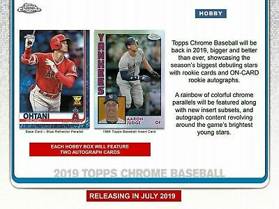 2019 Topps Chrome Base Team Sets