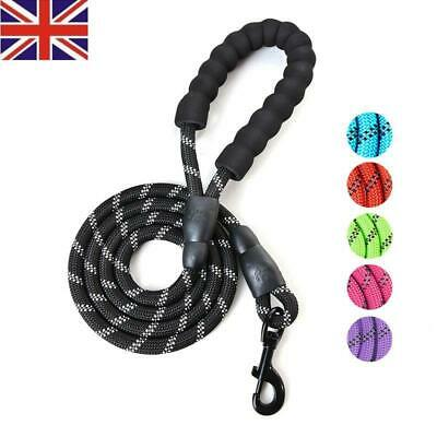 1X Rope Dog Lead Strong Training Pet Leash 4 ft Long for Dogs Small Medium Large