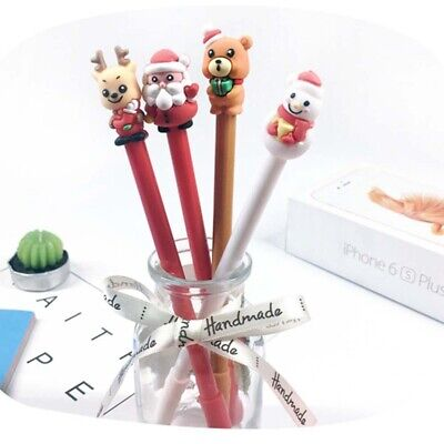 5/10X Cute Christmas Santa Claus Elk 0.5mm Black Ink Pen Office School Supplies