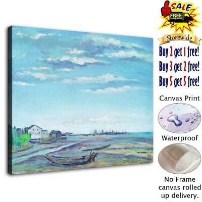 "Boat seaside Home Decor Room HD Canvas Print Wall Art Picture painting 12""x14"""