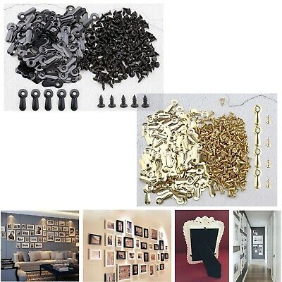 "200pcs Metal 3/4"" Frame Turn Button for Hanging Pictures Drawing Photos"