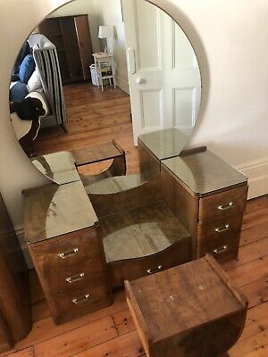 Art Deco Vintage Mirrored Dressing Table 135w x 175h x 55d