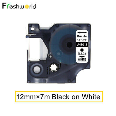 45013 S0720530 Compatible for DYMO D1 Label Tape Cartridge Black on White 12mm