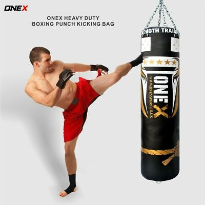 5ft Filled Heavy kick Boxing Punch Bag Hanging Training MMA Bags martial Arts