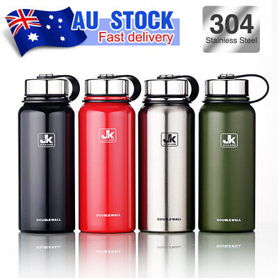 Stainless Steel Vacuum Insulated Water Bottle Double Walled Thermos Flask