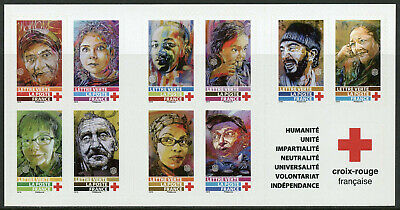 France 2019 MNH Red Cross 10v S/A Booklet Medical Health Stamps