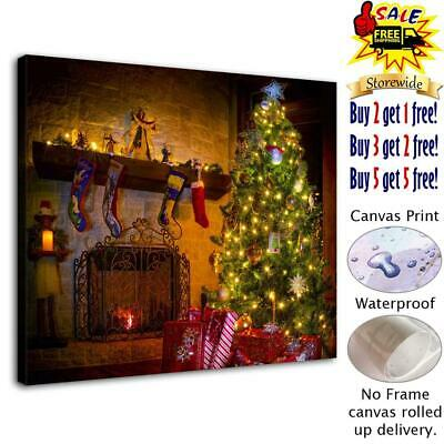 "Christmas tree HD Canvas Print Painting Home Decor Room Wall Art Picture 12""x14"""