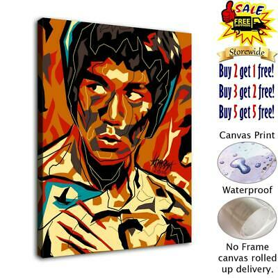 "Bruce Lee HD Canvas Print Painting Home Decor Room Wall Art Picture  12""x14"""