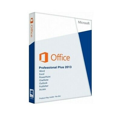 Microsoft MS Office 2013 Professional Plus Pro Plus Software Key Download
