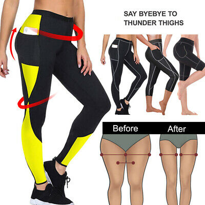 HOT Women Sauna Loss Slimming Pants Leggings Fitness Workout Body Shaper