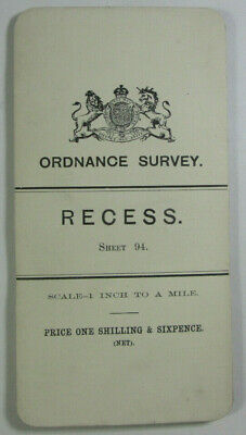 1899 Old OS Ordnance Survey Ireland One-Inch Second Edition Map Sheet 94 Recess