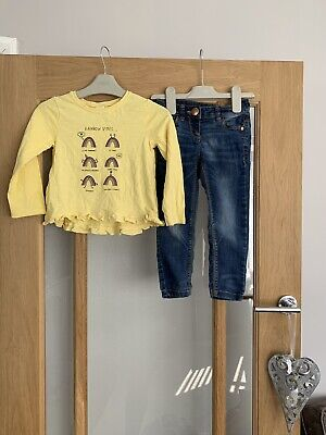 Next Girls Outfit 2-3 Years Jeans & Long Sleeved Top