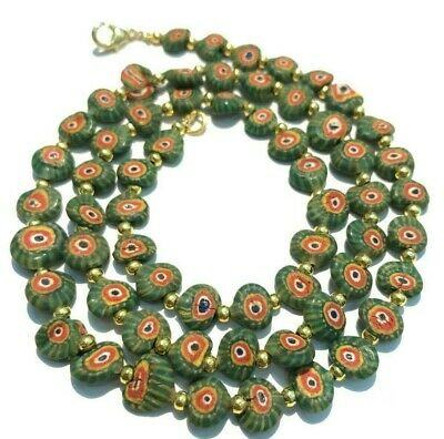 Ancient rare Antique Roman lovely  glass bead Beads Necklace