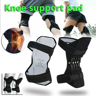 2x Power Lift Joint Support Knee Brace Pad Rebound Spring Force Running Leg Band