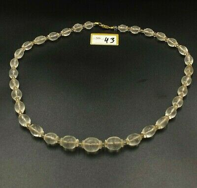 Ancient rare Antique  lovely Crystal  Beads Necklace