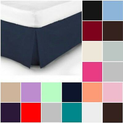 Plain Dyed Pleated Base Poly Cotton Valance Sheets Single Double King S King