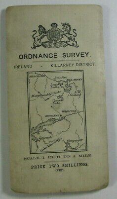 1913 Old OS Ordnance Survey Ireland Third Edition One-Inch Map Killarney Distric