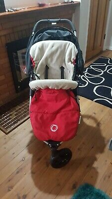 Bugaboo Footmuff - Red, fleece. Excellent used condition. No fade or stains.