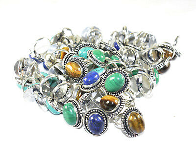 Moonstone & Mix Gemstone 925 Sterling silver Plated Rings Wholesale Lots