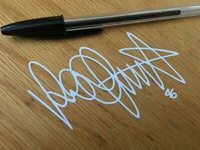 "Rossi ""THE DOCTOR"" Signature Decal (White) - UK SELLER"