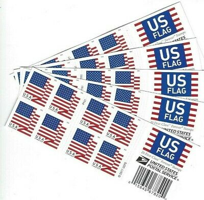 Scott #5262  USA FLAGS  5 booklets of 20 Forever postage stamps $55 face P1111