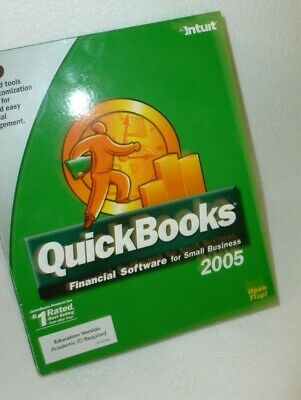 Intuit QuickBooks Pro 2005 Financial Software for Windows 98(SE)/2000/XP w/ Key