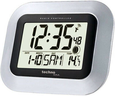 Technoline Ws 8005 Digitales Radio Reloj de Pared Fecha DCF-77 Temperatura