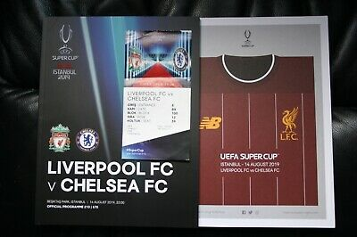 Liverpool v Chelsea 2019 UEFA Super Cup Programme and Ticket