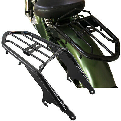 Glossy Black Rear Solo Seat Luggage Rack Carrier For Royal Enfield Classic Model