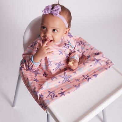 BIBaDO Catch it All, Cover All Full Cover Baby Led Weaning Bib - PINK BLOSSOM