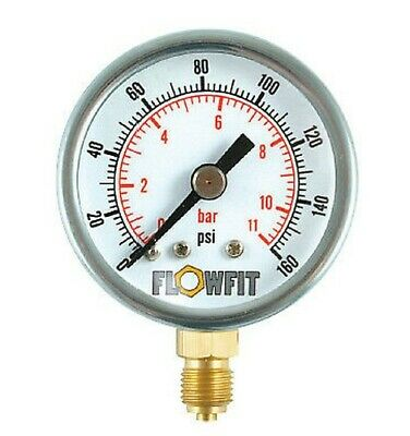40mm Pressure Gauge Base Entry 0-160 PSI AIR AND OIL